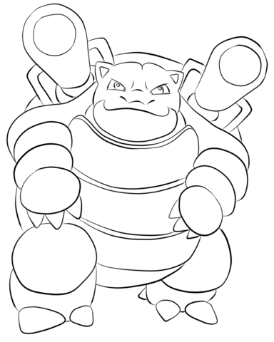 Blastoise coloring page