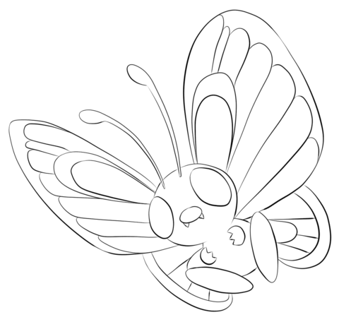 Butterfree coloring page