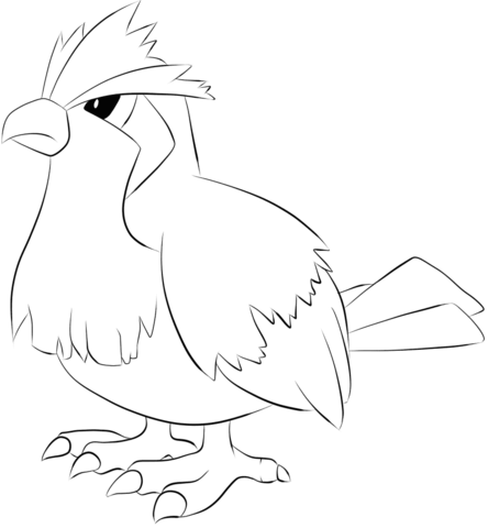 Pidgey coloring page