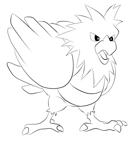 Spearow coloring page
