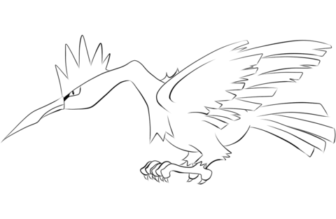 Fearow coloring page
