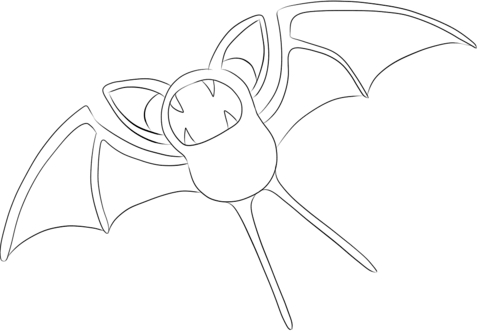 Zubat coloring page