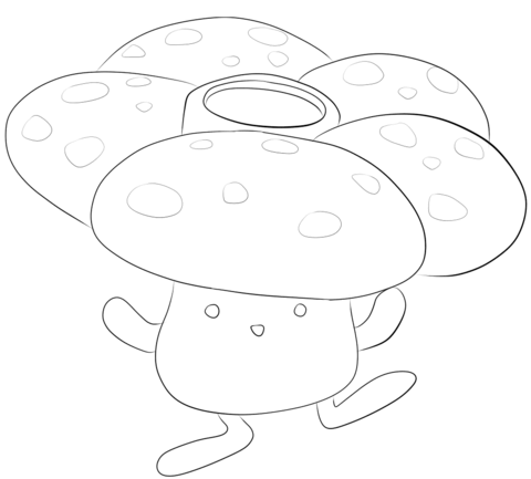 Vileplume coloring page