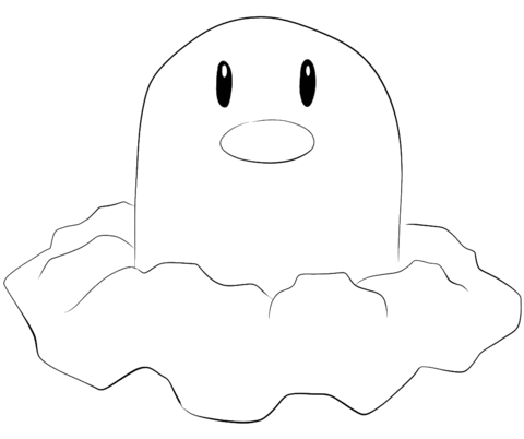 Diglett coloring page