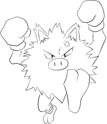 Primeape coloring page