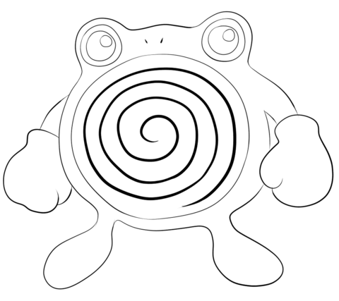 Poliwhirl coloring page