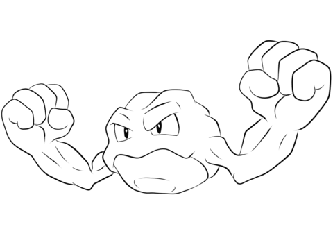 Geodude coloring page