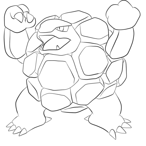 Golem coloring page