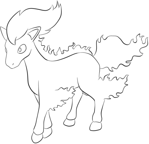 Ponyta coloring page