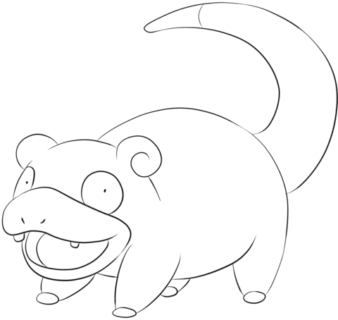 Slowpoke coloring page
