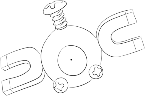 Magnemite coloring page