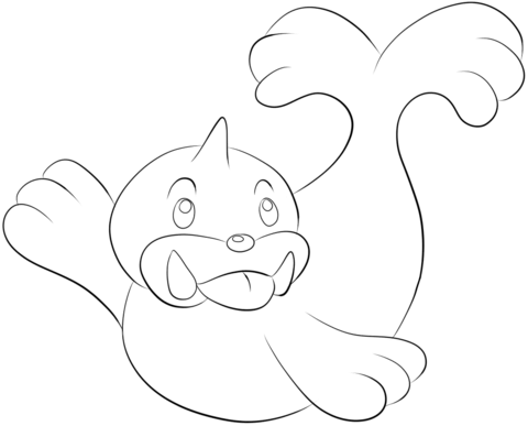 Seel coloring page