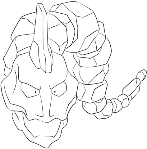 Onix coloring page