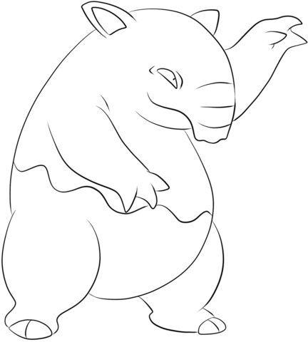 Drowzee coloring page