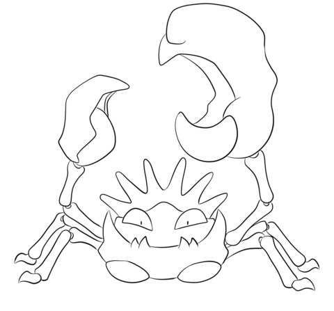 Kingler coloring page