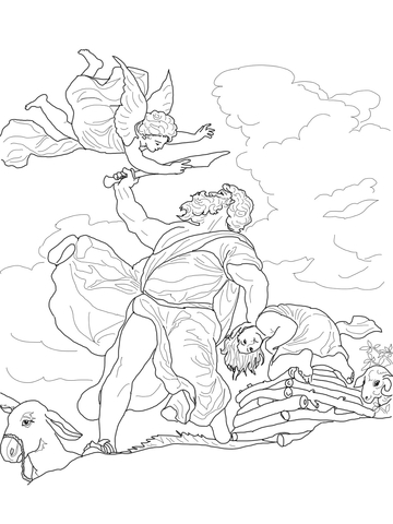Abraham, Sarah and Their Newborn Son Isaac coloring page - Free ...