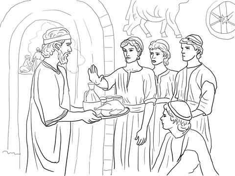 Daniel Makes Good Choices and Refuses King\'s Food coloring page ...