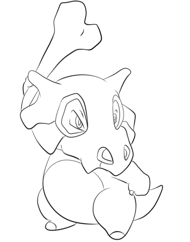 Cubone coloring page