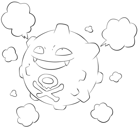 Koffing coloring page