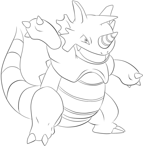 Rhydon coloring page