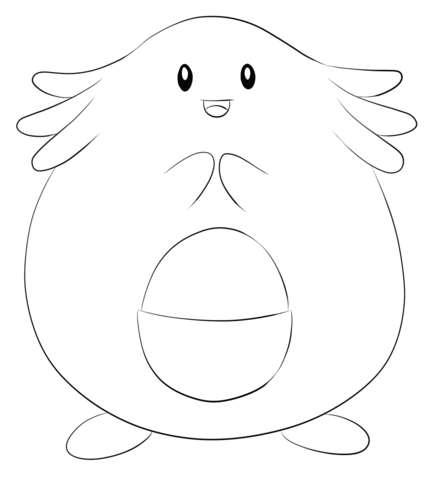 Chansey coloring page