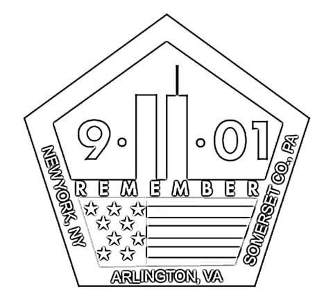 11th September Memorial coloring page - Free Printable Coloring Pages