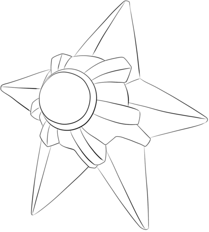 Staryu Coloring page