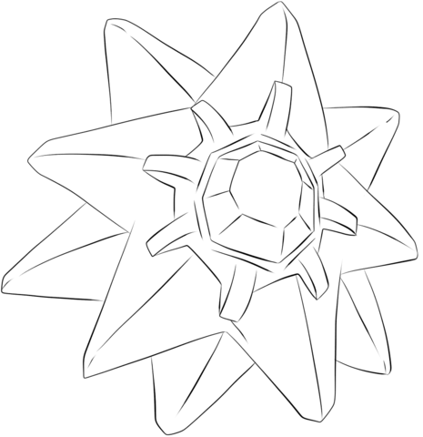 Starmie coloring page