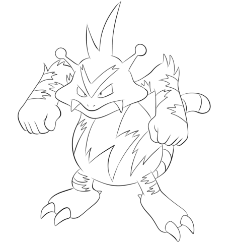 Electabuzz coloring page