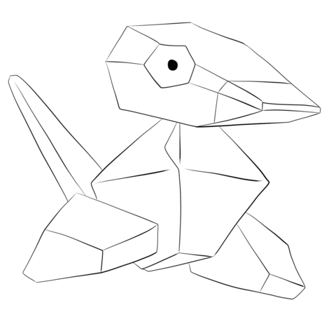 Porygon coloring page