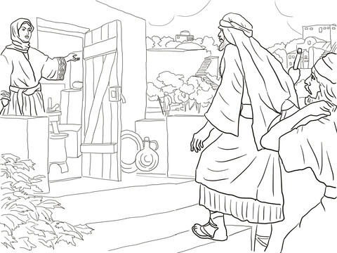 New Room Built for Elisha coloring page - Free Printable Coloring Pages