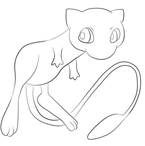Pokemon Mew  coloring page