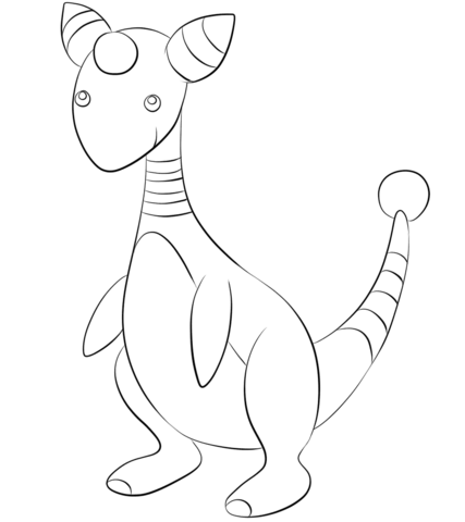 Ampharos coloring page