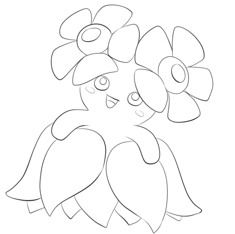 Bellossom coloring page - Free Printable Coloring Pages