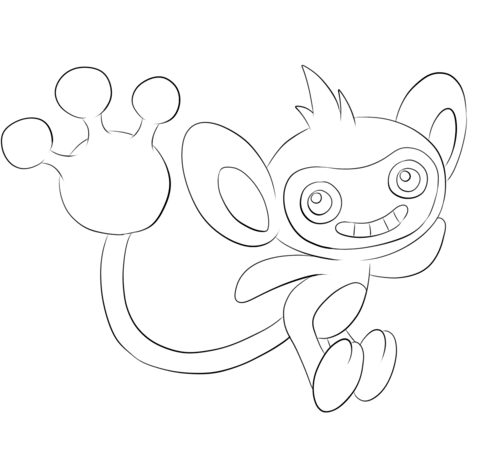 Aipom coloring page