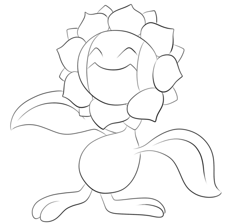 Sunflora coloring page - Free Printable Coloring Pages