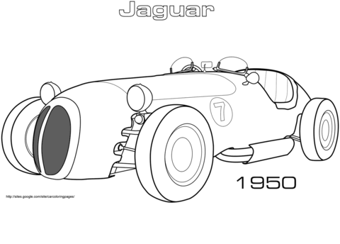1950 Jaguar XK 120 Alloy Roadster coloring page