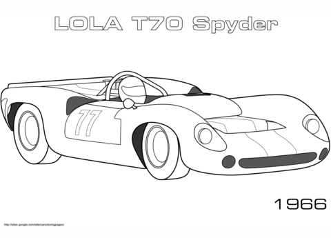 1966 Lola T70 Spyder coloring page