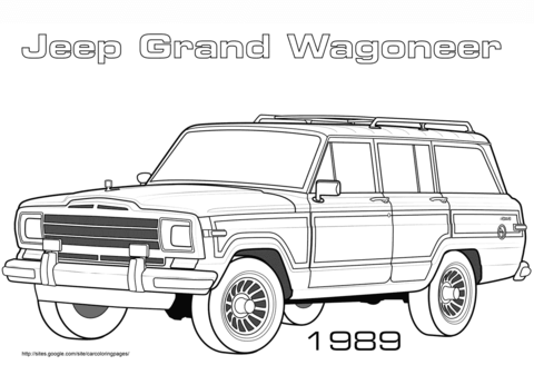 1989 Jeep Grand Wagoneer coloring page