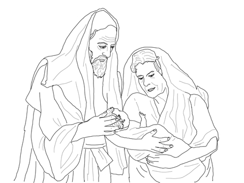 Abraham and Isaac coloring page - Free Printable Coloring Pages