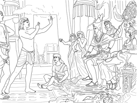 Joseph Interpreting the Pharaoh's Dream coloring page