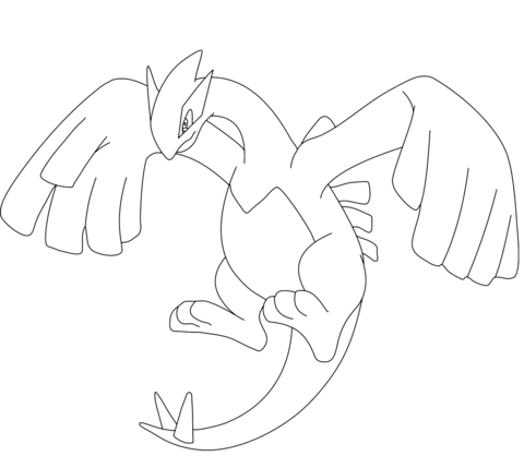 Lugia coloring page