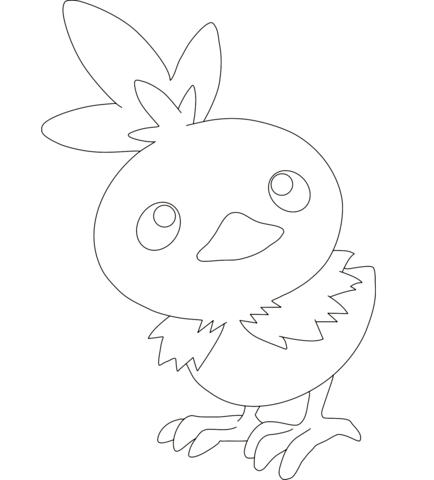 Torchic coloring page