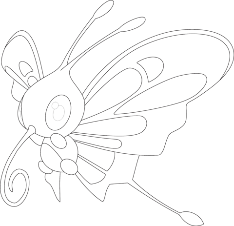 Mightyena Coloring Page Beautifly