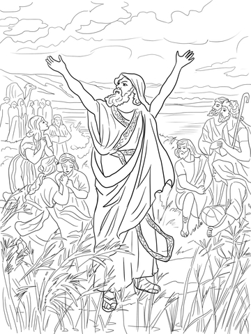 Ezra the Priest Thanks God for His Help coloring page
