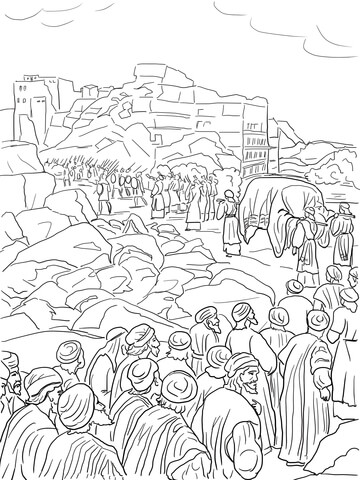 Joshua Capture of Jericho coloring page - Free Printable ...