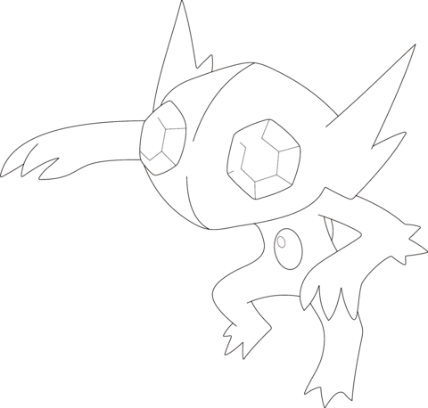 skitty coloring page sableye coloring page