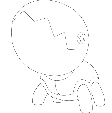 trapinch coloring page