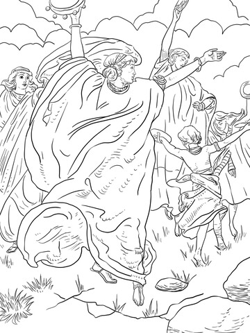 Moses Holding Up His Arms During The Battle Assisted By