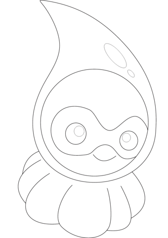 Castform in Rainy Form coloring page